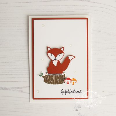 Stampin' Up! – Foxy Friends – Gefeliciteerd