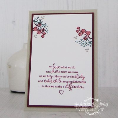 Stampin' Up! – Peaceful Noel & Statement of the Heart
