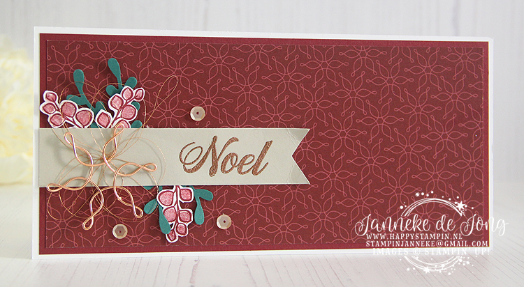 Stampin' Up! - Janneke de Jong - Peaceful Noel - Inspiratie, workshops en verkoop van Stampin' Up!