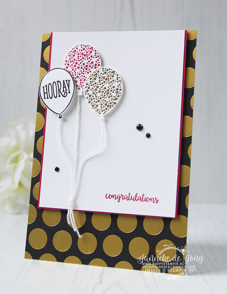 Stampin' Up! - Janneke 0de Jong - Happy Birthday Gorgeous - Inspiratie & Verkoop van Stampin' Up!