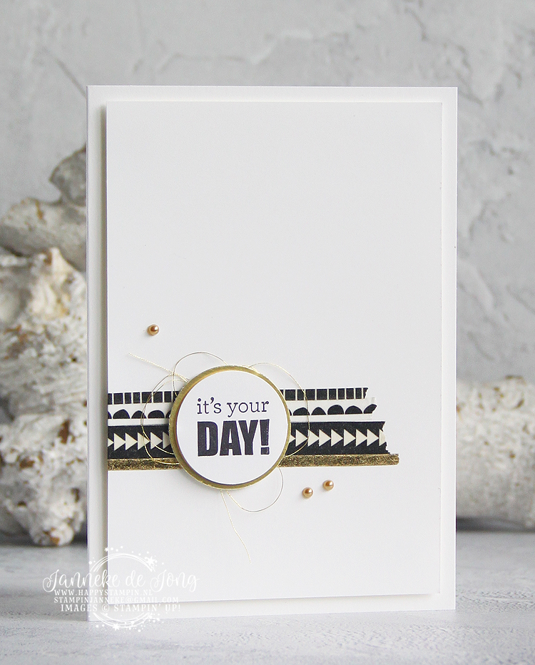 Stampin' Up! - Janneke de Jong - Itty Bitty Birthdays - Inspiratie & Verkoop van Stampin' Up!