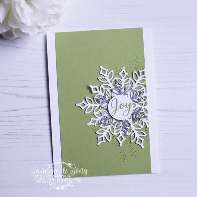 Stampin' Up! – Snowfall Thinlits – Joy