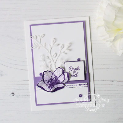 Stampin' Up! – Beautiful Promenade – Dank je wel