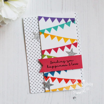 Stampin' Up! – Pick a Pennant – Sending you happiness & love