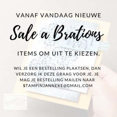 Stampin' Up! – Nieuwe Sale A Brations items ;-)