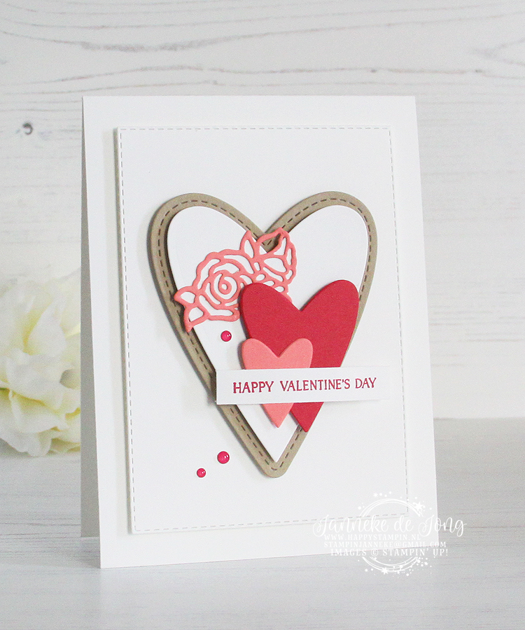 Stampin' Up! - Janneke de Jong - Be Mine Stitched Framelits - Inspiratie en Verkoop van Stampin' Up!