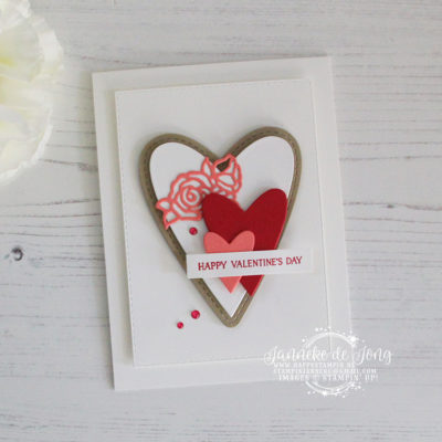 Stampin' Up! – Be Mine Stitched Framelits – Happy Valentine's Day