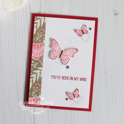 Stampin' Up! – Butterfly Gala – You've been on my mind