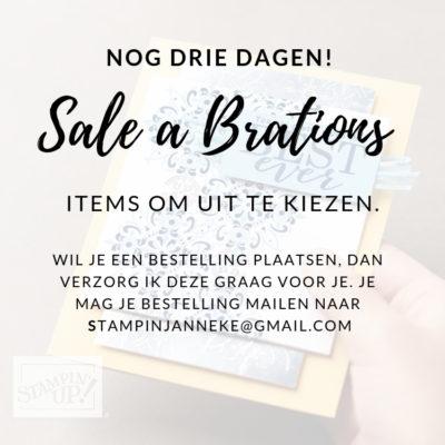 Stampin' Up! – Laatste dagen van de Sale a Brations