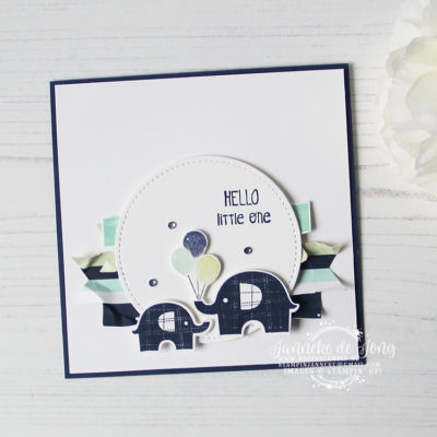 Stampin' Up! – Little Elephant – Baby kaart