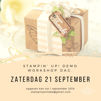 Stampin' Up! – Demo workshop dag