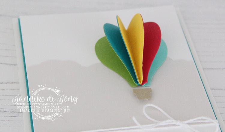 Stampin' Up! - Happy Stampin' - Janneke de Jong - Hot Air Balloon - Inspiratie en Verkoop van Stampin' Up!