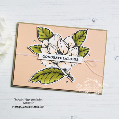 Stampin' Up! – Magnolia Blooms – Global Design Project #198