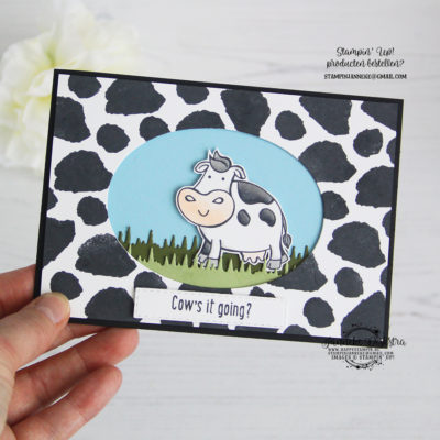 Stampin' Up! – Over the Moon – Cow's it going?