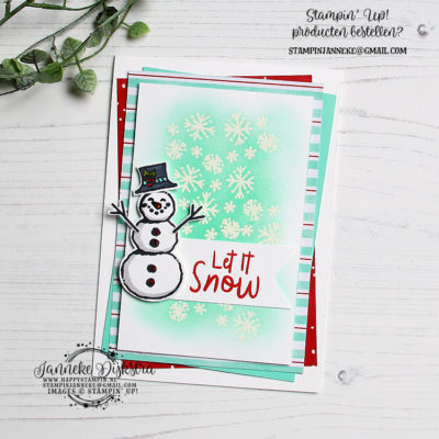 Stampin' Up! – Ink & Inspiration blog hop – Let it Snow