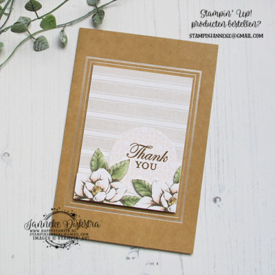 Stampin' Up! – Magnolia Blooms – Thanks
