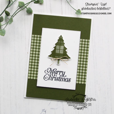 Stampin' Up! – Perfectly Plaid – Merry Christmas