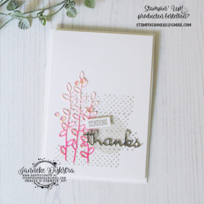 Stampin' Up! – Well Written Dies – Cas on Friday