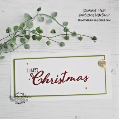 Stampin' Up! – Happy Christmas – Cas on Friday