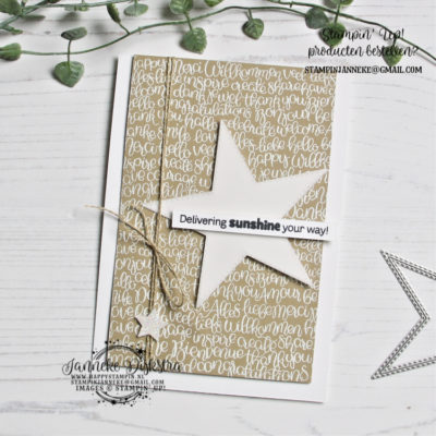 Stampin' Up! – Delivering Sunshine – Global Design Project #212
