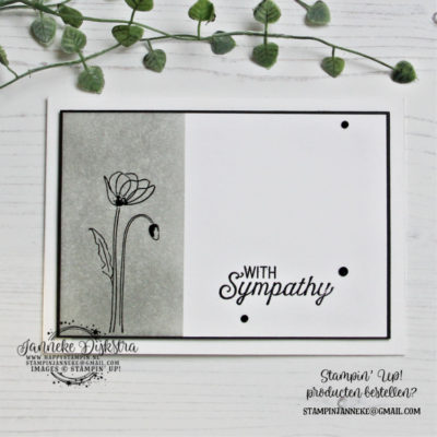 Stampin' Up! – With Sympathy – CAS on Friday