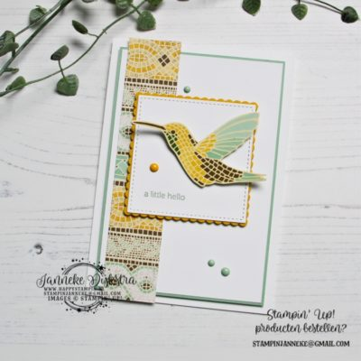 Stampin' Up! – A little Hello – Global Design Project #216