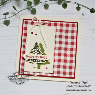 Stampin' Up! – Perfectly Plaid – Global Design Project #214