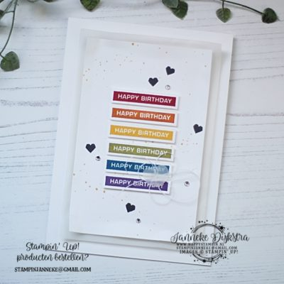 Stampin' Up! – Happy Birthday – Global Design Project #224