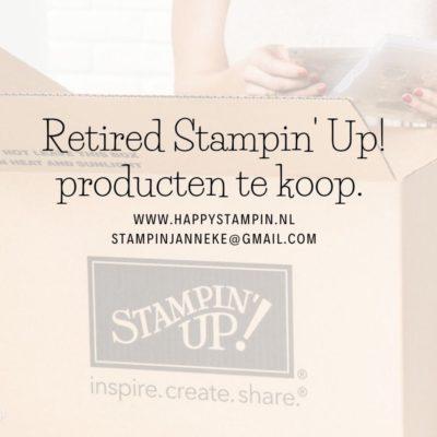 Retired Stampin' Up! te koop