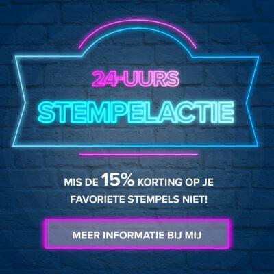 Stempel actie – 15% korting ;o)