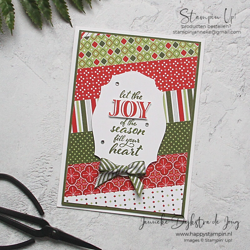 Stampin' Up! - Happy Stampin' - Janneke Dijkstra - Wrapped in Christmas
