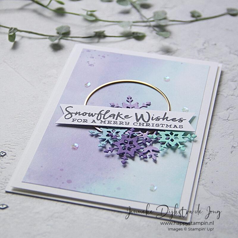 Stampin' Up! - Happy Stampin' - Janneke Dijkstra - Snowflake Wishes
