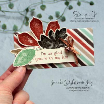 Stampin' Up! - Happy Stampin' - Janneke Dijkstra - Love of Leaves - Chocolade Verpakking