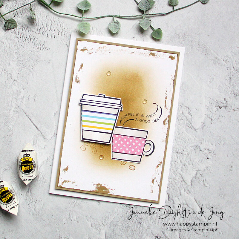 Stampin' Up! - Happy Stampin' - Janneke Dijkstra - Press On - Coffee