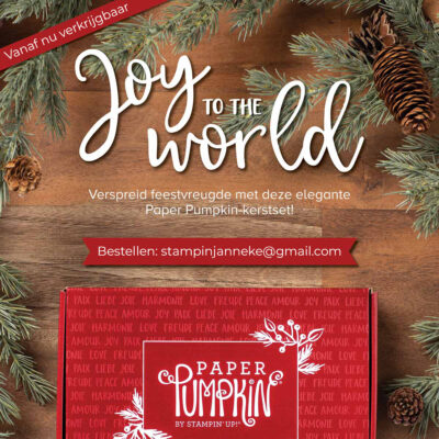 Paper Pumpkin – Joy to the World