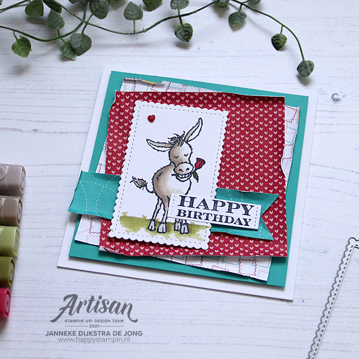 Stampin Up - Happy Stampin - Janneke Dijkstra - Darling Donkeys