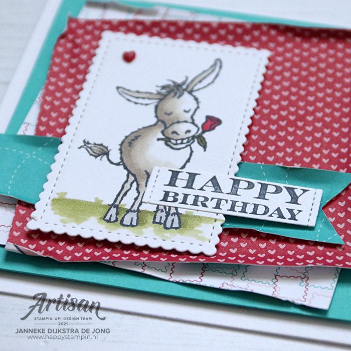 Stampin Up - Happy Stampin - Janneke Dijkstra - Darling Donkeys