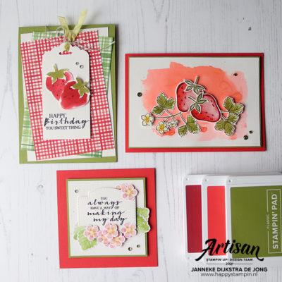 Stampin Up - Happy Stampin - Janneke Dijkstra - Sweet Strawberry
