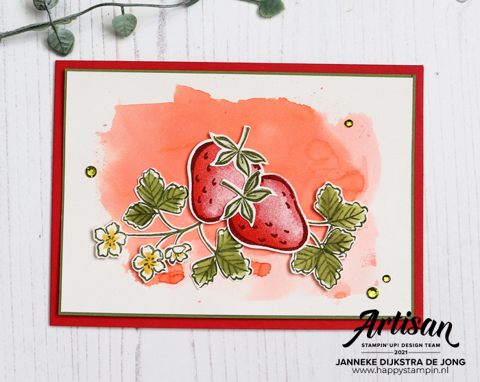 Stampin Up - Happy Stampin - Janneke Dijkstra - Sweet Strawberry