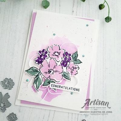 Hand-Penned Petals – Congratulations