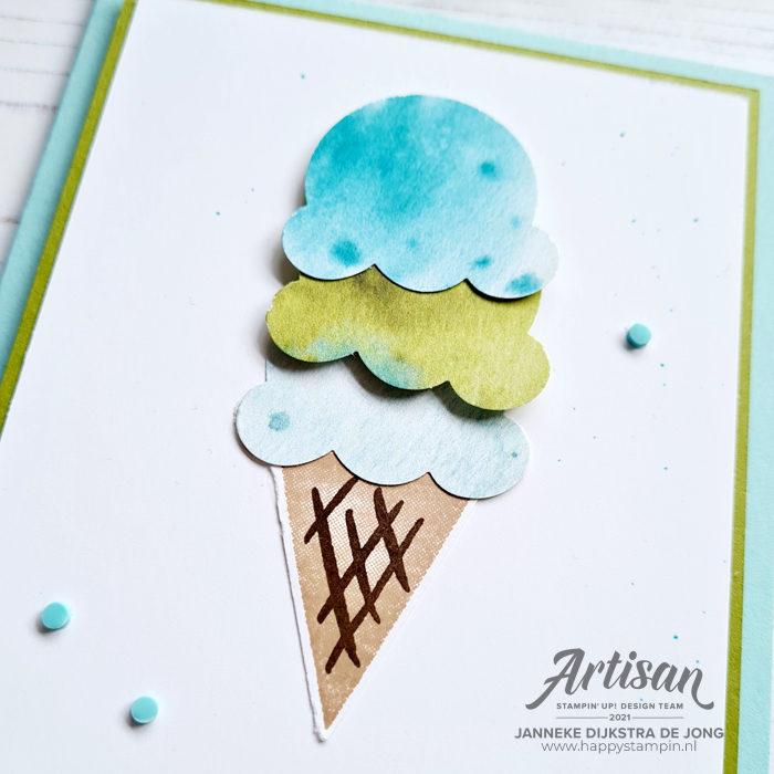 Stampin Up - Happy Stampin - Janneke Dijkstra - Ice Cream