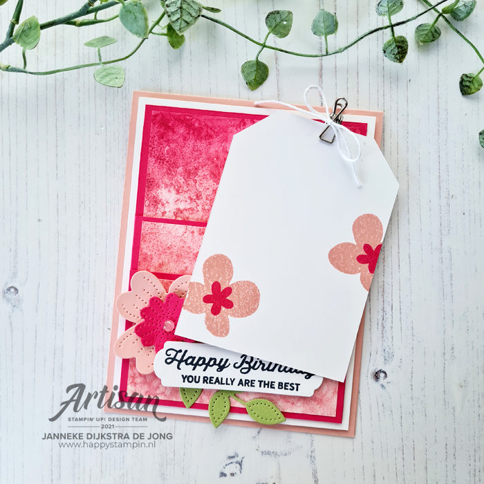 Stampin Up - Happy Stampin - Janneke Dijkstra - Pierced Blooms Dies