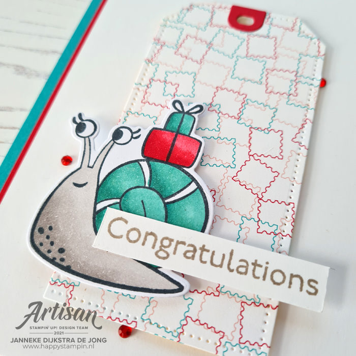 Stampin Up - Happy Stampin - Janneke Dijkstra - Snailed it - Congratulations