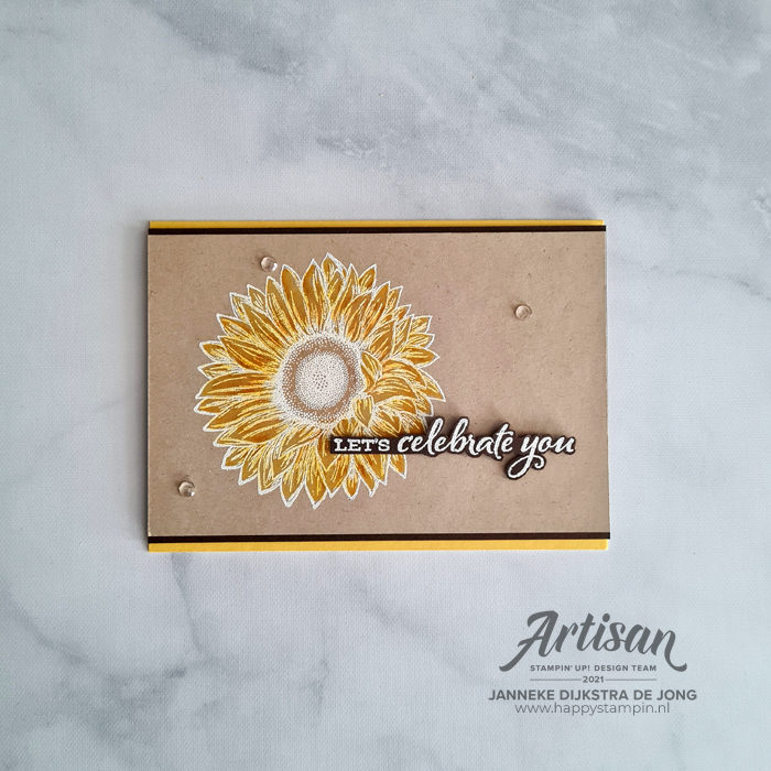 Stampin Up - Happy Stampin - Janneke Dijkstra - Celebrate Sunflowers