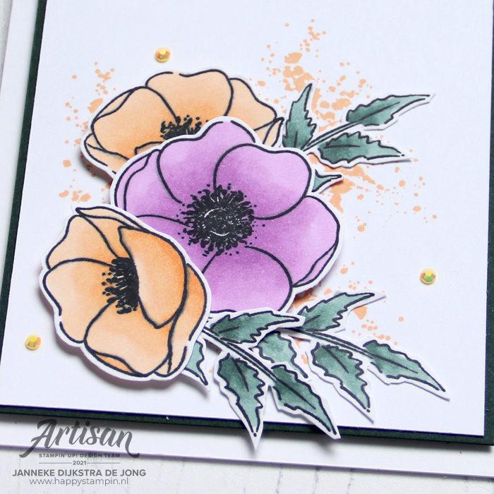 Stampin Up - Happy Stampin - Janneke Dijkstra - Painted Poppies