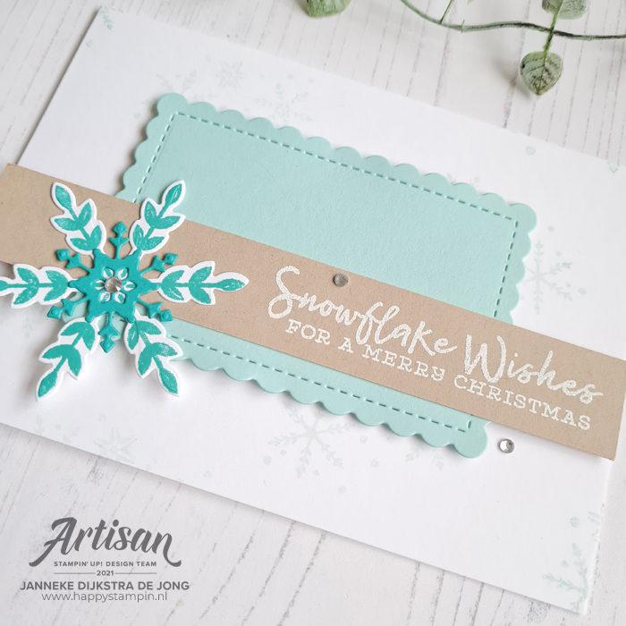 Stampin Up - Happy Stampin - Janneke Dijkstra - Snowflake Wishes