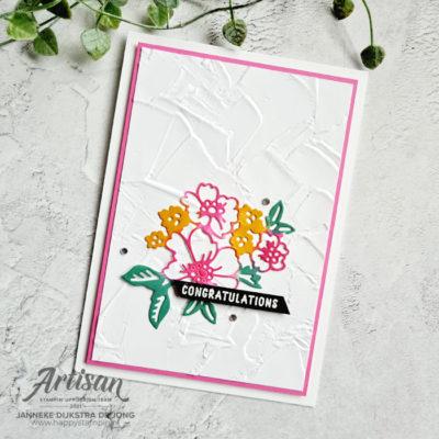 Hand Penned Petals – Congratulations
