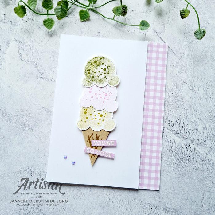 Stampin Up - Happy Stampin - Janneke Dijkstra - Sweet Ice Cream