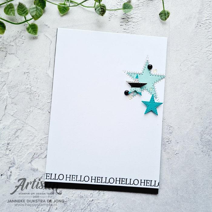 Stampin Up - Happy Stampin - Janneke Dijkstra - Stitched Stars
