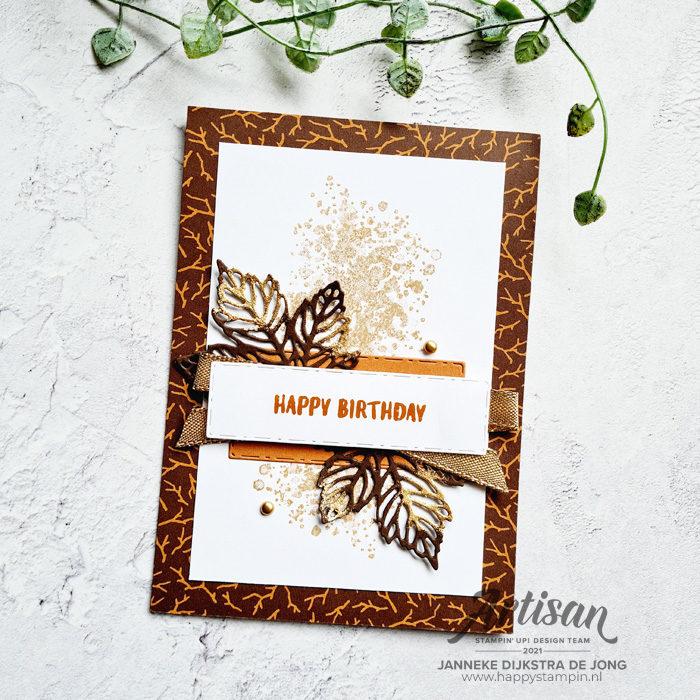Stampin Up - Happy Stampin - Janneke Dijkstra - Gorgeous Leaves